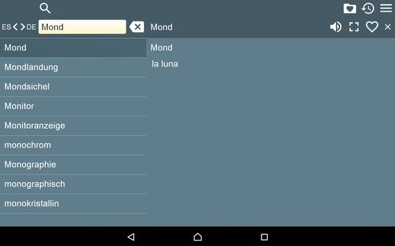 Spanish German Dictionary Free apk screenshot