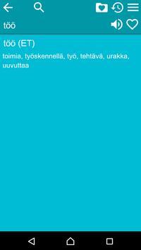 Estonian Finnish Dictionary Fr apk screenshot