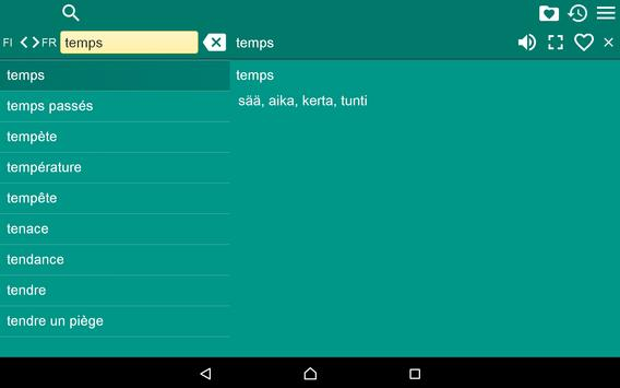 Finnish French Dictionary Free apk screenshot