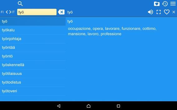 Italian Finnish Dictionary Fr apk screenshot