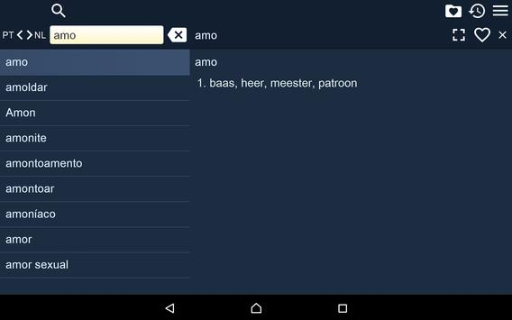 Portugese Dutch Dictionary Fr apk screenshot
