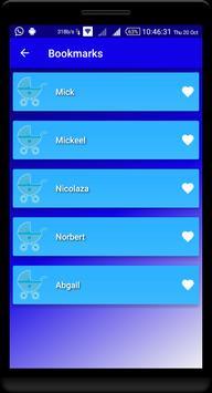 Nama Bayi Inggris - Baby Names apk screenshot