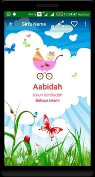 Nama Bayi Islami - Baby Names apk screenshot