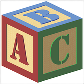 Coloring Book : Alphabet icon