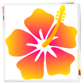 Coloring Book : Flower icon