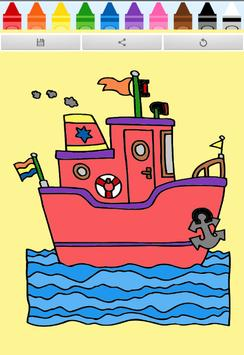 Coloring Book : Ship poster