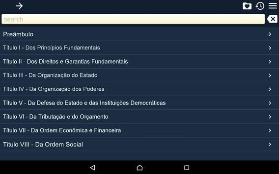Constitution of Brazil apk screenshot