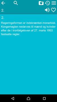 Constitution of Denmark apk screenshot