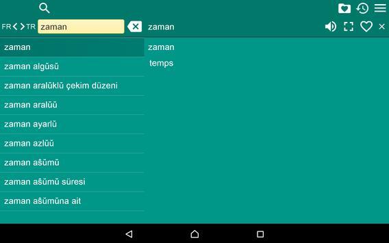 French Turkish Dictionary Fr apk screenshot