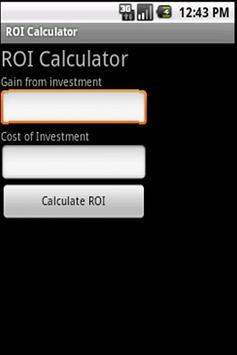 ROI Calculator apk screenshot