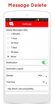 Nxtty: Anonymous, Dating Chat apk screenshot