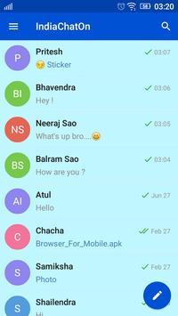 IndiaChatOn- Free Chatting App apk screenshot