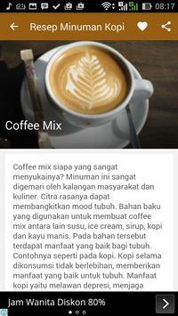 Resep Minuman Kopi Nikmat apk screenshot