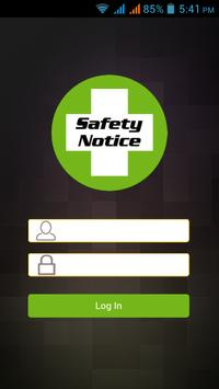 Safety Notice poster