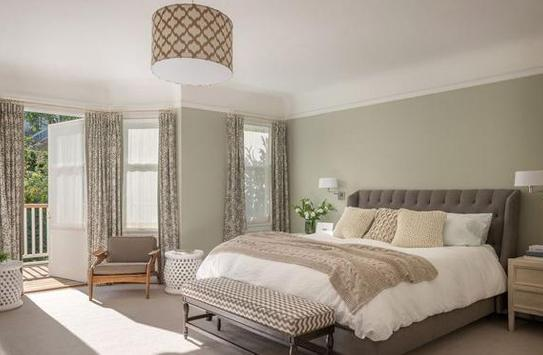 Modern bedroom design poster