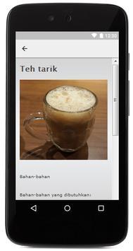 Resep minuman hangat apk screenshot
