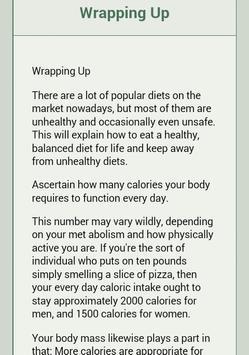 Eating Healthy apk screenshot