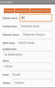 iş Güvenliği ve Saglik Hesap apk screenshot