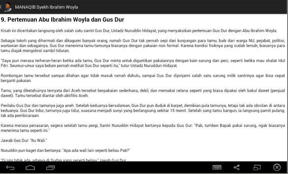 Biografi Syekh Ibrohim Woyla apk screenshot