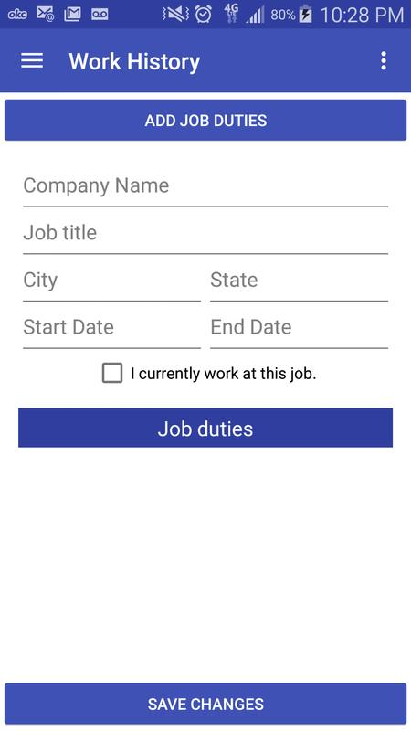 marketable resume builder apk free business app