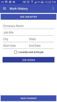 Marketable Resume Builder apk screenshot