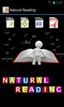 Natural Reading poster