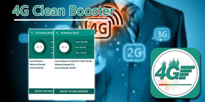 4G Clean Booster - Boost Data poster