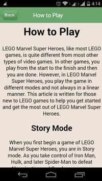 Guide for Marvel Super Heroes apk screenshot
