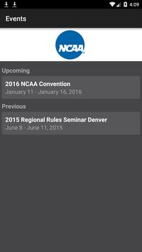 NCAA Events poster