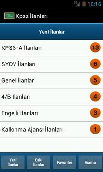 Kpss İlanları poster