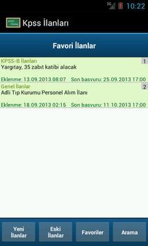 Kpss İlanları apk screenshot