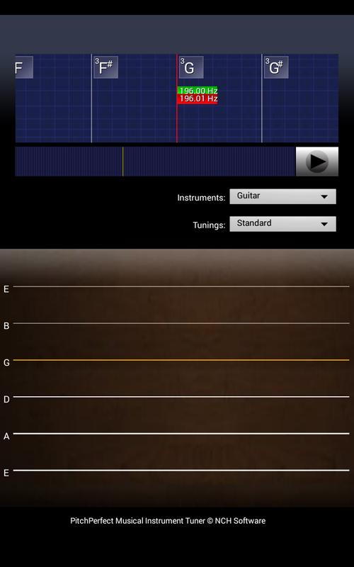 pitchperfect guitar tuner free apk download free music audio app for android. Black Bedroom Furniture Sets. Home Design Ideas