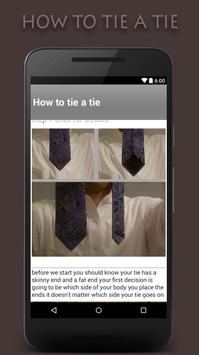 how to tie a tie apk screenshot