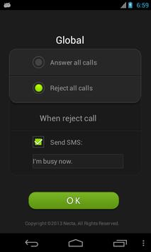 Air Call-Accept free (Necta) apk screenshot