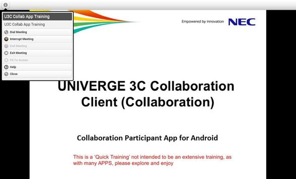 UNIVERGE 3C Collaboration apk screenshot