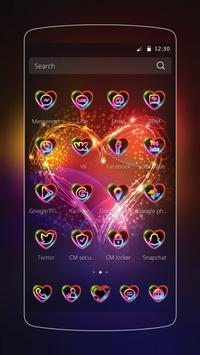 Neon Love Theme apk screenshot