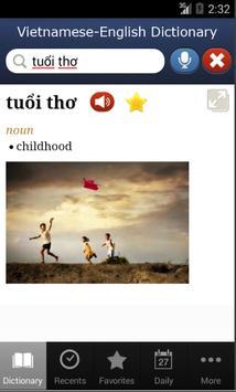 Vietnamese-English Dictionary apk screenshot