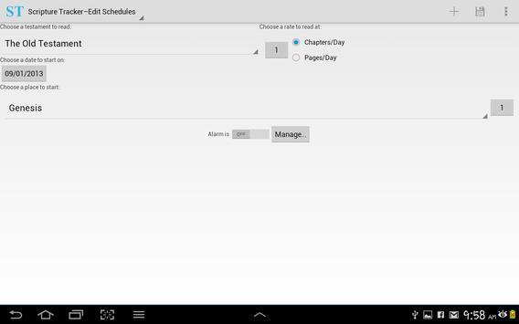 Scripture Tracker apk screenshot