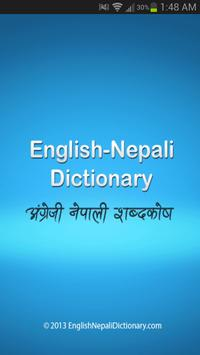 English Nepali Dictionary poster