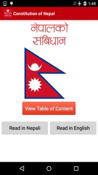 Constitution of Nepal 2072 poster