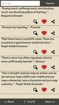 Learning Quotes apk screenshot