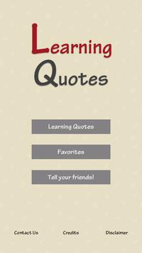 Learning Quotes poster