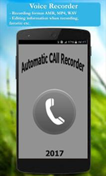 Automatic Call Recorder 2017 poster