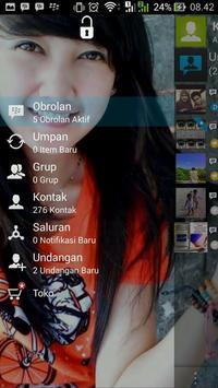 Versi Baru BBM Transparant apk screenshot
