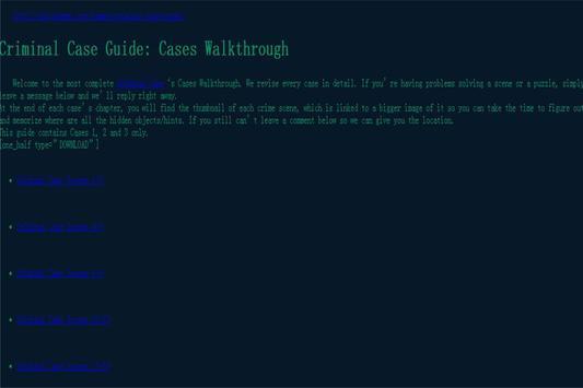 Utility Guide 4 Criminal Case apk screenshot