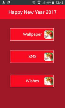 Happy New Year 2017 Wishes SMS poster