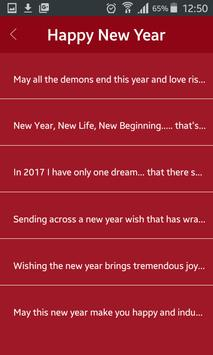 Happy New Year 2017 Wishes SMS apk screenshot