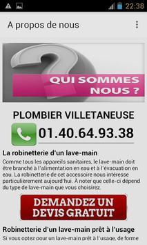 Plombier Villetaneuse apk screenshot