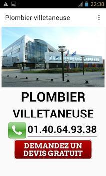 Plombier Villetaneuse poster