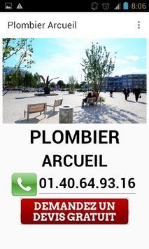 Plombier Arcueil poster